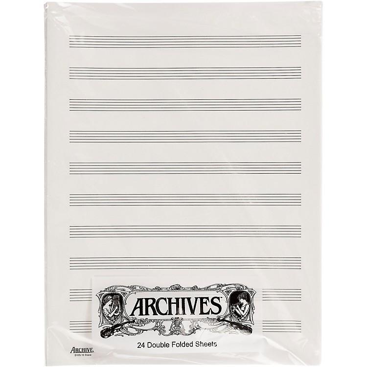 ArchivesDouble Folded Manuscript Paper 10 Stave