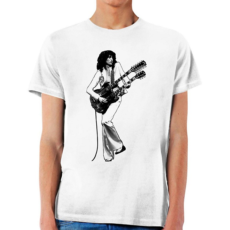 Jimmy PageDouble Guitar Icon T-ShirtX-Large