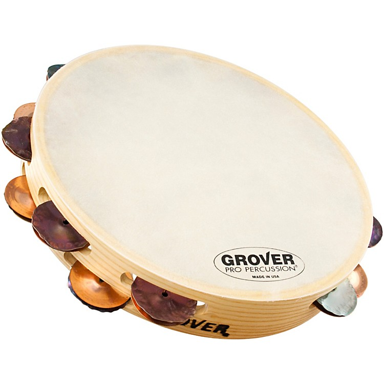 Grover Pro Double-Row German Bantamweight Tambourine Dry Silver/Bronze 10 in.