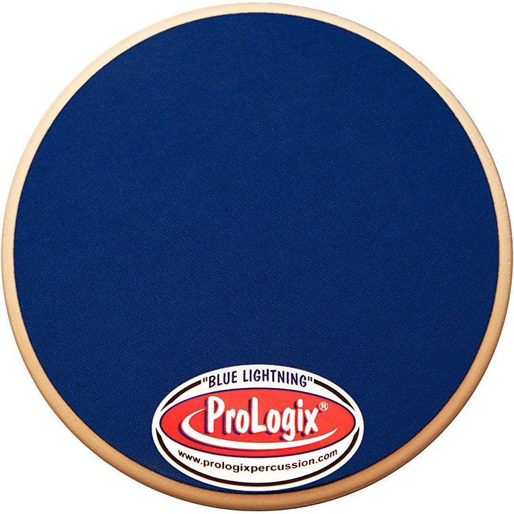 ProLogix Percussion Double-Sided Combo Practice Pad 6 in. Blue Lightning/Blackout