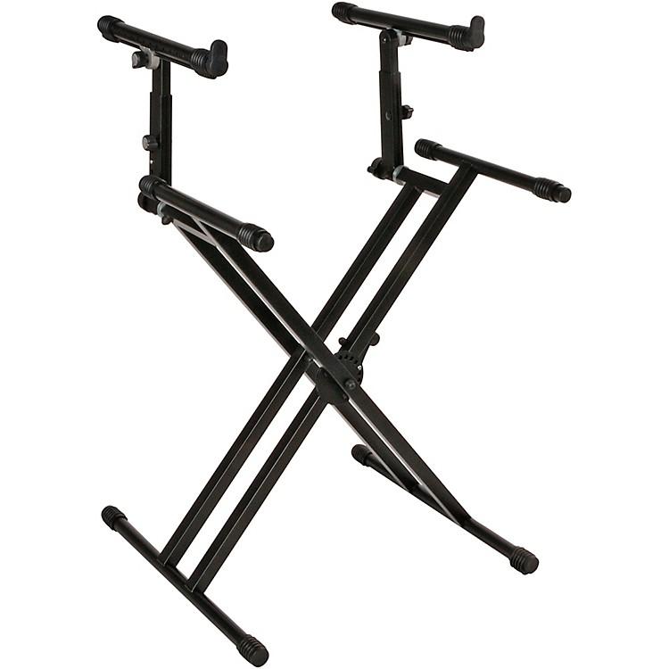 Quik-LokDouble-Tier Double-Braced Keyboard Stand