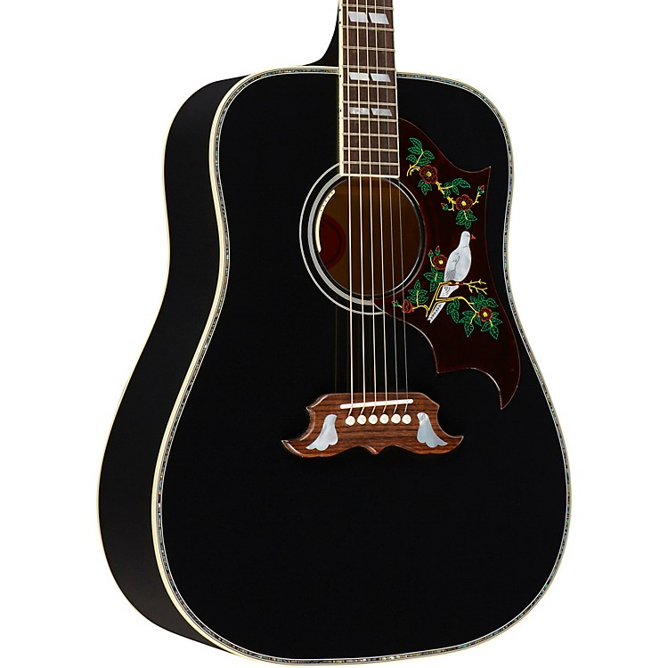 gibson dove abalone custom acoustic electric guitar ebony music123. Black Bedroom Furniture Sets. Home Design Ideas
