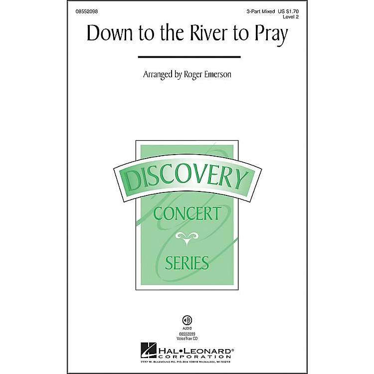 Hal LeonardDown To The River To Pray 3-Part Mixed