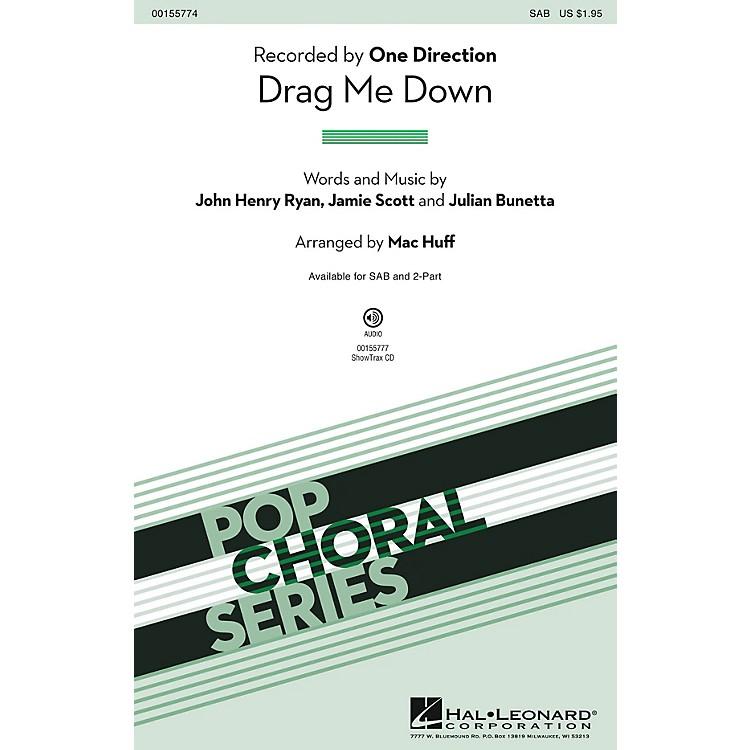Hal LeonardDrag Me Down SAB by One Direction arranged by Mac Huff