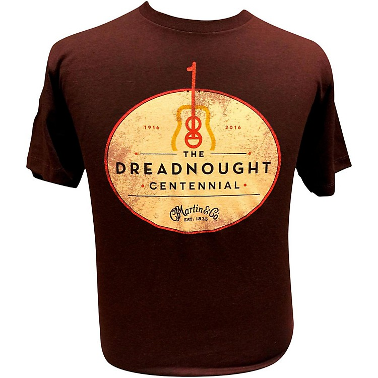 Martin Dreadnought Centennial T-Shirt Small Sangria