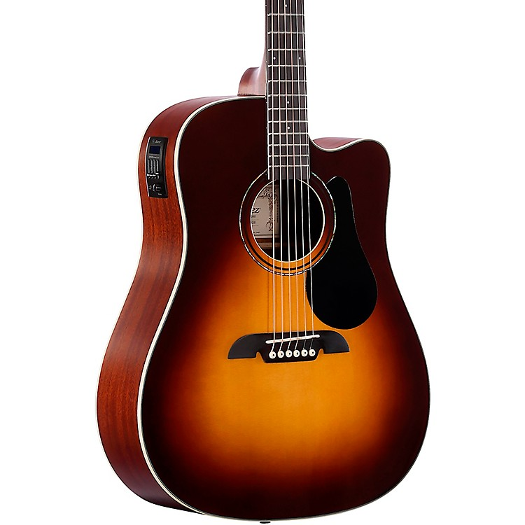 Alvarez Dreadnought Cutaway Acoustic-Electric Guitar Sunburst