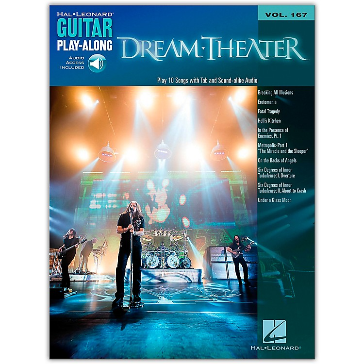 Hal Leonard Dream Theater - Guitar Play-Along Vol. 167 Book/Online Audio