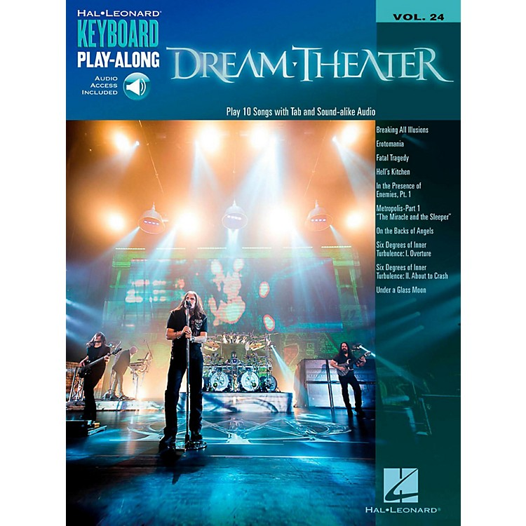Hal Leonard Dream Theater - Keyboard Play-Along Vol. 24 Book/Audio Online