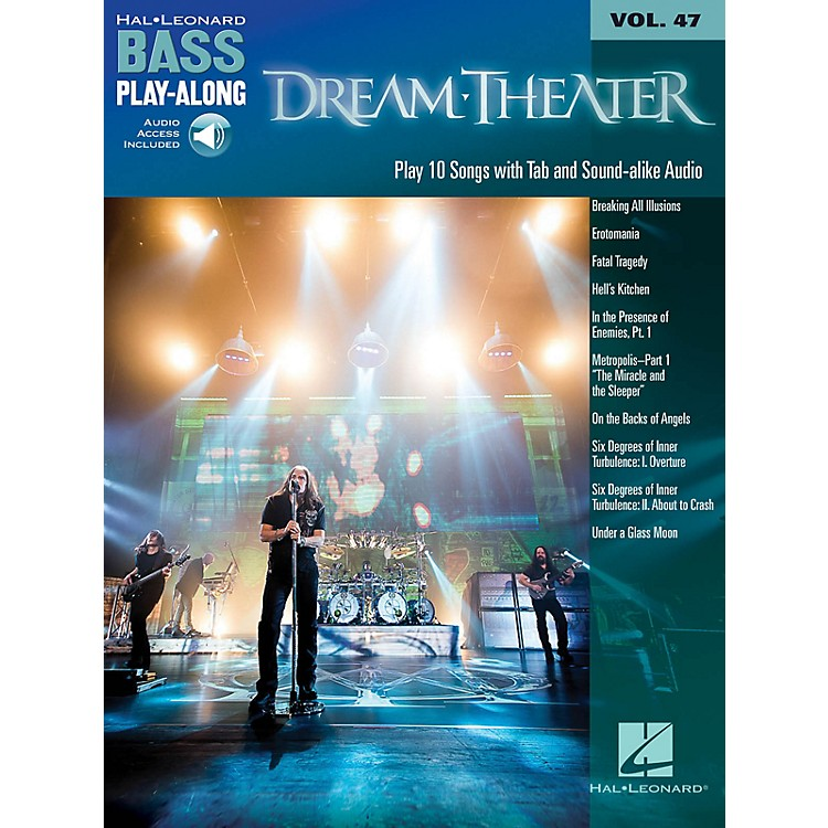 Hal LeonardDream Theater (Bass Play-Along Volume 47 Book/Online Audio) Bass Play-Along Series Softcover Audio Online