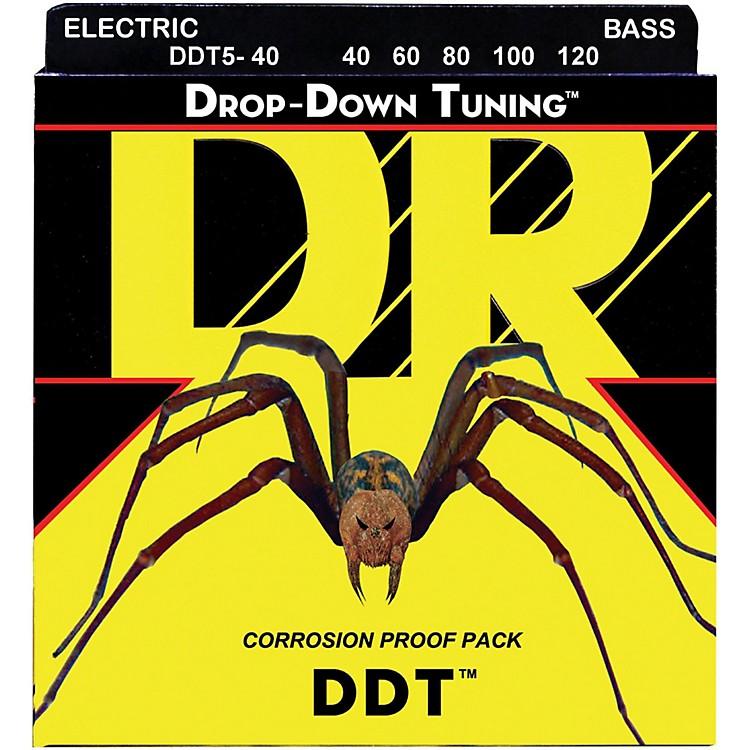 DR StringsDrop Down Tuning Lite 5-String Bass Strings (40-120)