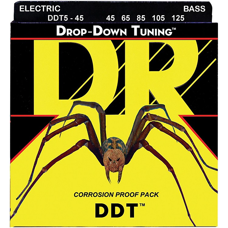DR Strings Drop Down Tuning Medium 5-String Bass Strings (45-125)