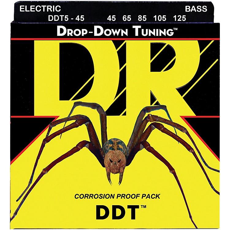 DR StringsDrop Down Tuning Medium 5-String Bass Strings (45-125)