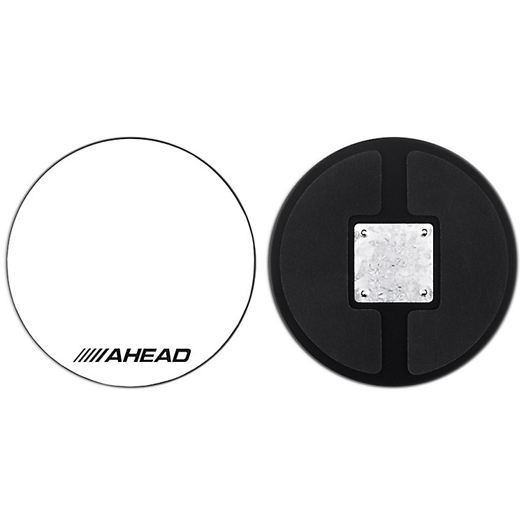 AheadDrum Corp Practice Pad with Snare SoundWhite Hard Surface10 in.