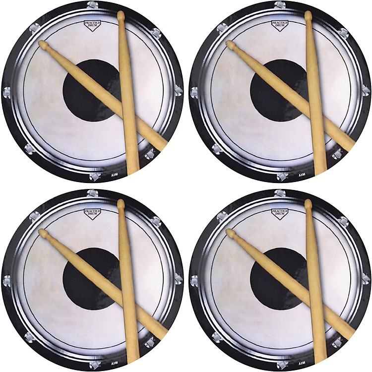 AIMDrum Practice Pad Vinyl Coaster 4 Pack