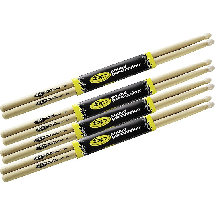 Sound Percussion Labs Drum Sticks Buy 3, Get 1 Free, 5A Nylon Tip