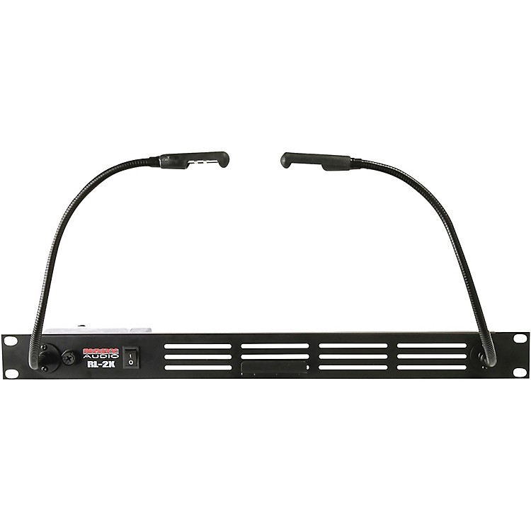 Cherokee Led Uplight Gooseneck Light: Nady Dual Gooseneck LED Rack Light Black