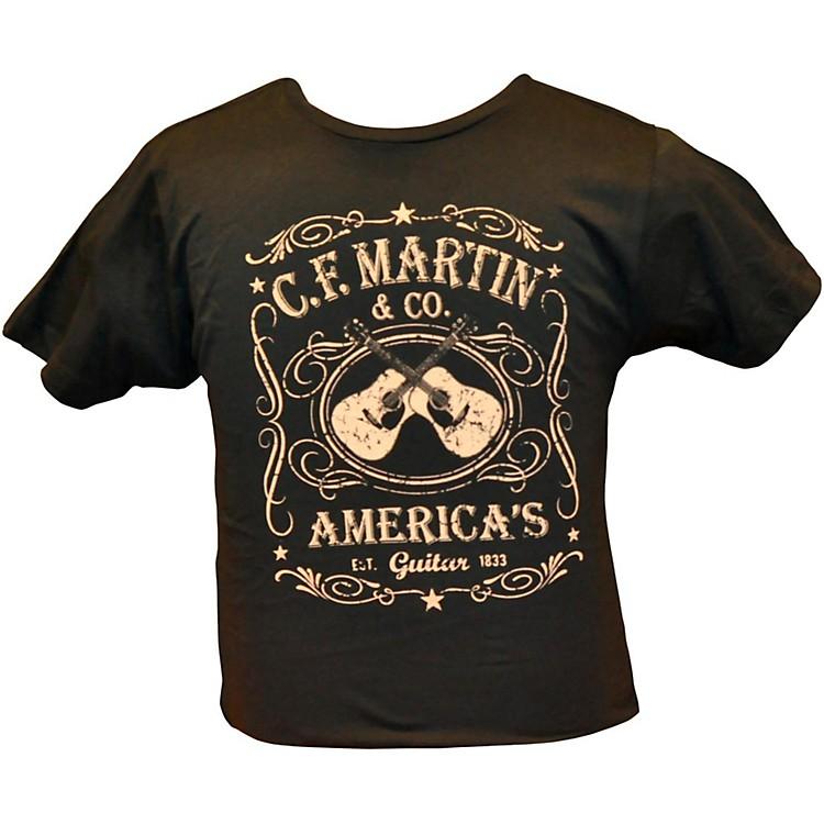 MartinDual Guitars Vintage T-ShirtBlackMedium