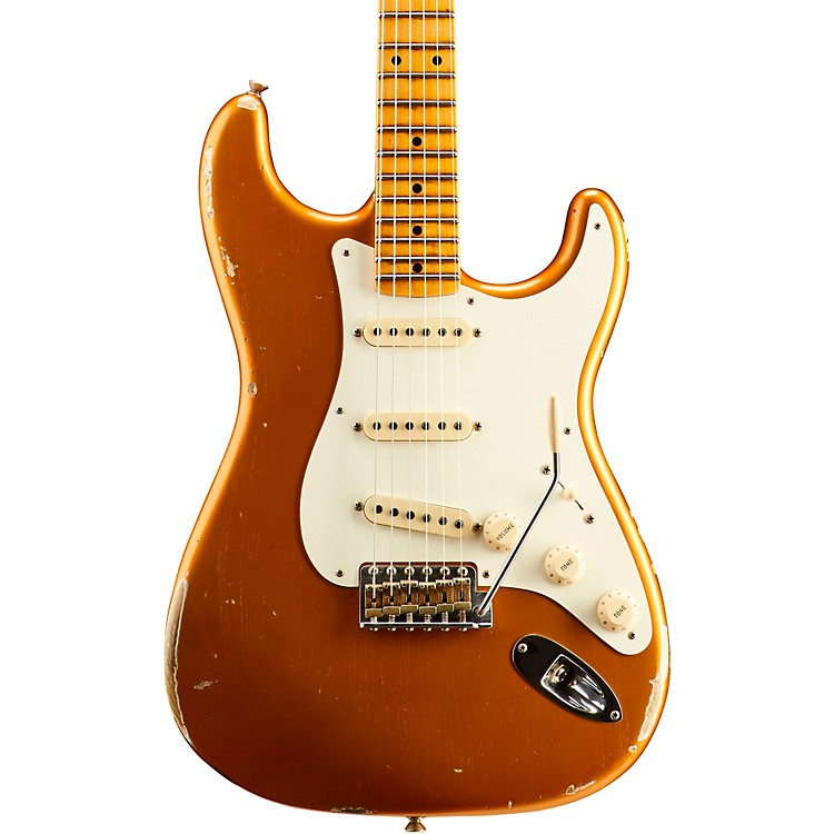 Fender Custom ShopDual Mag Relic Stratocaster - Custom Built - Namm Limited EditionFaded Candy Tangerine