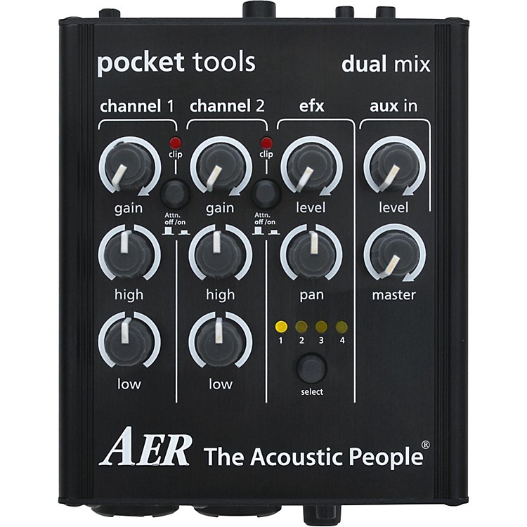 AERDual-Mix 2 Acoustic Guitar Direct Box and Preamp