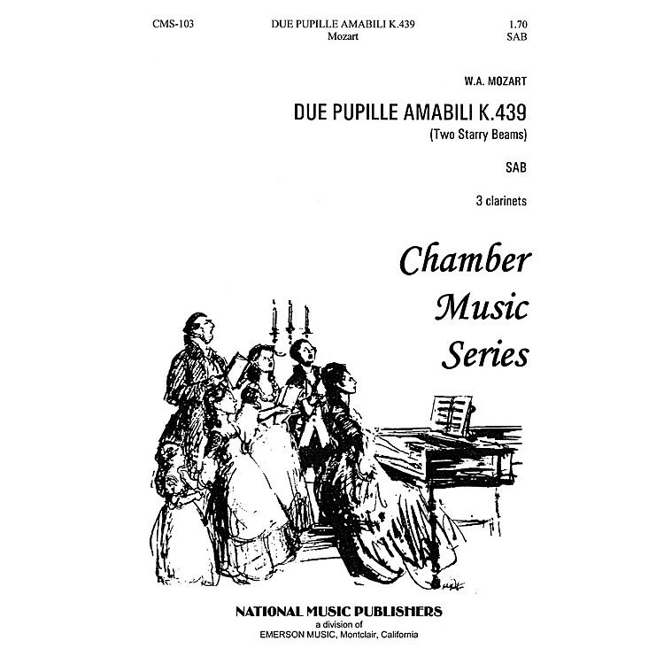 Hal LeonardDue Pupille Amabili SAB composed by Robert Carl