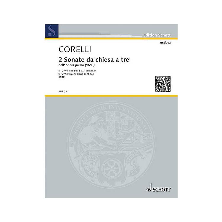 Schott MusicDue Sonate Schott Series Composed by Arcangelo Corelli Arranged by Hermann Roth