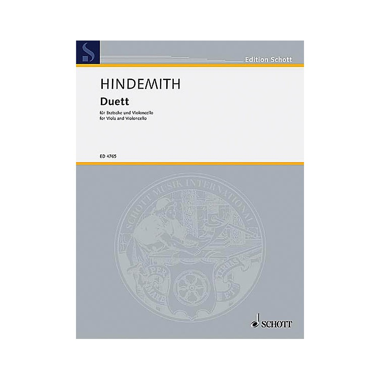 Schott MusicDuet (1934) Schott Series Composed by Paul Hindemith