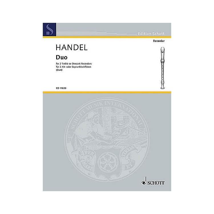 SchottDuet F Major (with Alternatives in C Major) Schott Series by Georg Friedrich Händel