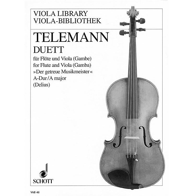 SchottDuet in A Major from Der getreue Musikmeister (Performance Score) Schott Series by Georg Philipp Telemann