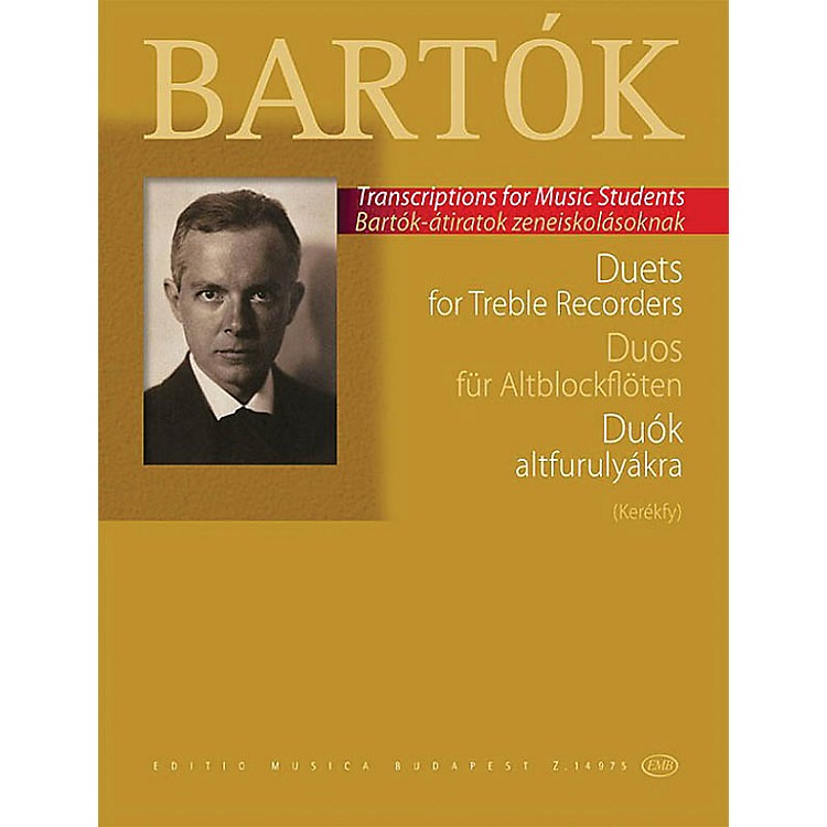Editio Musica BudapestDuets for Treble Recorders (from the Children's and Female Choruses) EMB Series Softcover by Béla Bartók