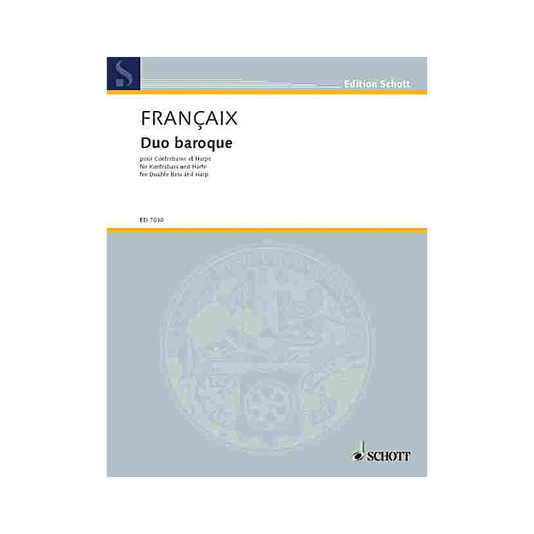 SchottDuo Baroque Schott Series Composed by Jean Françaix
