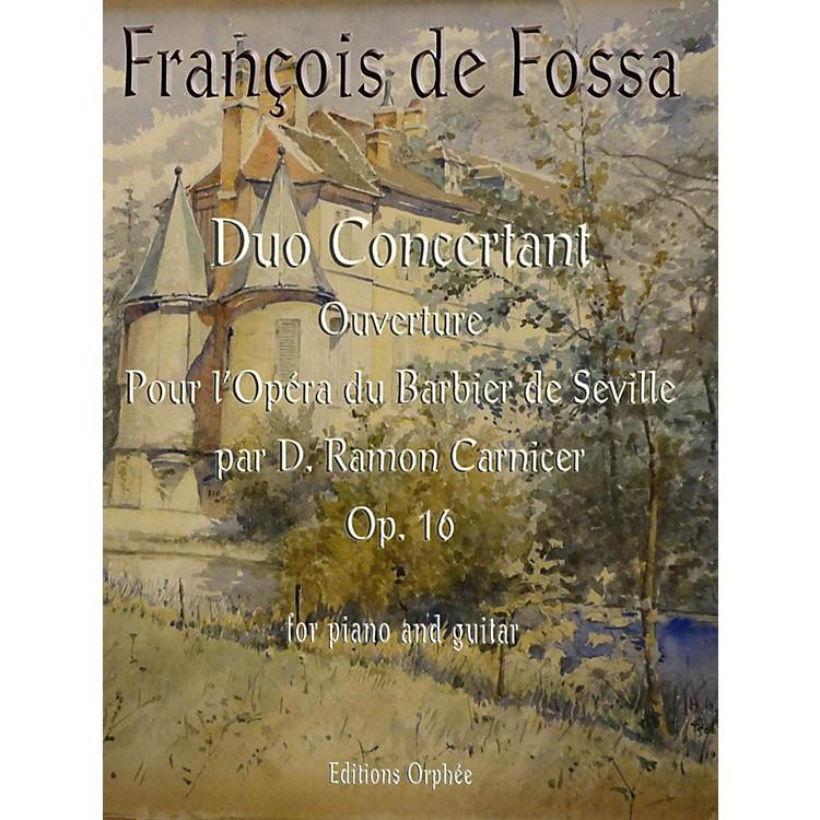 Carl FischerDuo Concertant Op.16 Ouverture pour l'Opera du Barbier de Seville par D. Ramon Carnicer