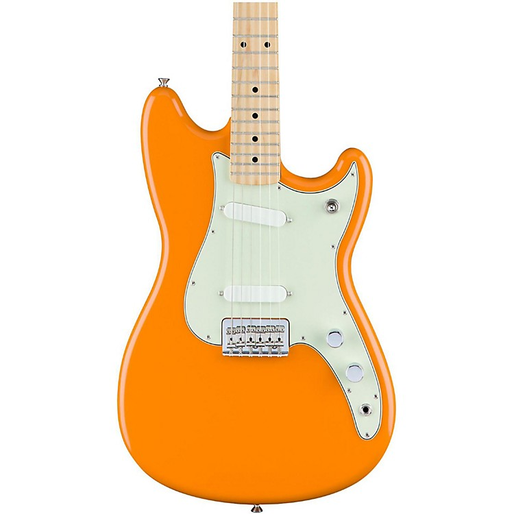 Fender Duo-Sonic Electric Guitar with Maple Fingerboard Capri Orange