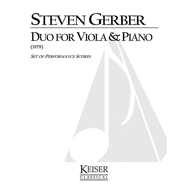 Lauren Keiser Music PublishingDuo for Viola and Piano LKM Music Series Composed by Steven Gerber