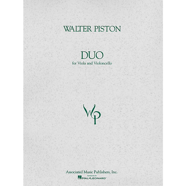 AssociatedDuo for Viola and Violoncello (Score and Parts) String Ensemble Series Composed by Walter Piston