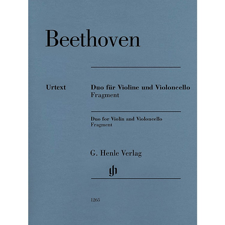 G. Henle VerlagDuo for Violin and Violoncello, Fragment Henle Music Folios Series Softcover by Ludwig van Beethoven