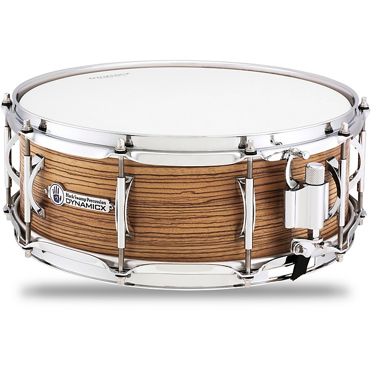 Black Swamp PercussionDynamicx BackBeat Series Snare Drum with Zebrawood Veneer14 x 5.5 in.