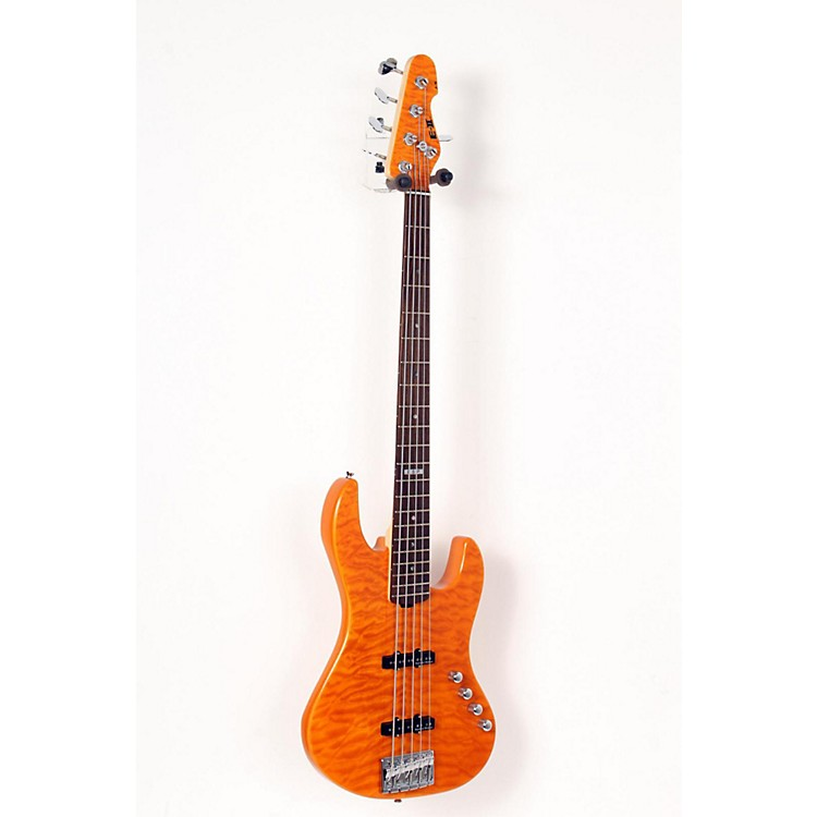 ESP E-II J-5 5 String Electric Bass Guitar Amber 888365629353
