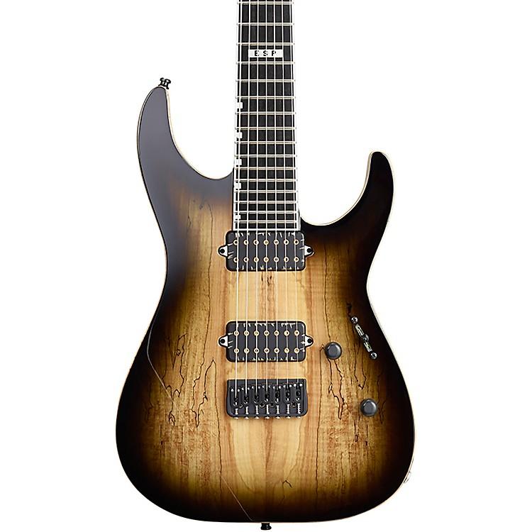 ESPE-II M-II-7 NT Hipshot Electric GuitarDark Brown Sunburst