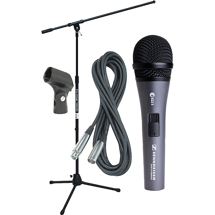 SennheiserE822 Mic with Stand, Cable & Clip