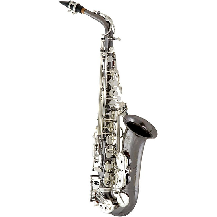 Eastman EAS640 Professional Alto Saxophone Black Nickel Plated Body with Silver Plated Keys