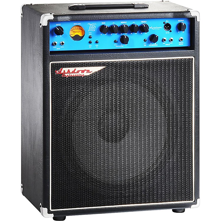 AshdownEB 15-180 Electric Blue  EVO II 180W 1x15 Bass Combo AmpBlack with Blue Face