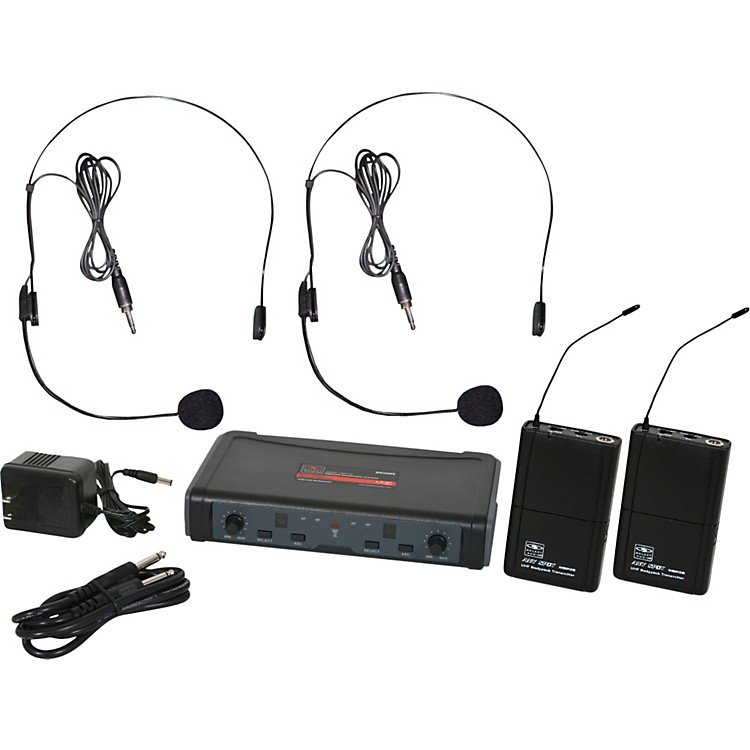 Galaxy Audio ECD Dual Channel UHF Wireless System with Dual Headset Microphones Band D 888365743189