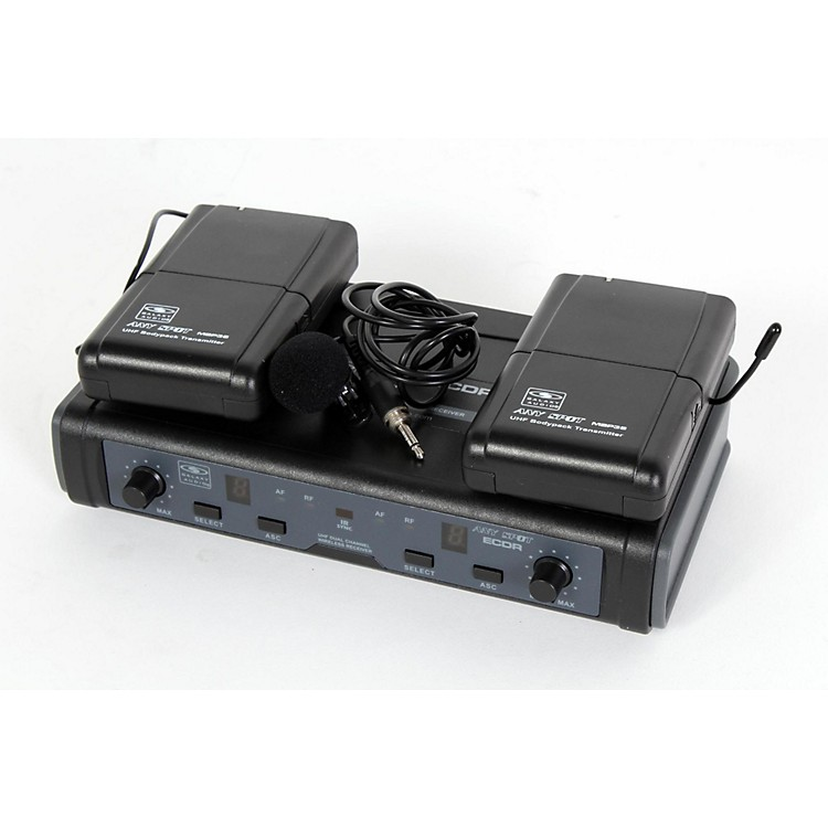 Galaxy Audio ECD Dual Channel UHF Wireless System with Dual Lavalier Microphones Band L 888365777863