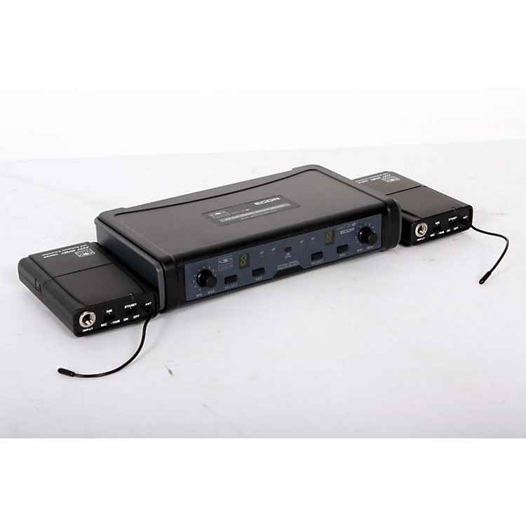Galaxy AudioECD Dual Channel UHF Wireless System with Dual Lavalier Microphones