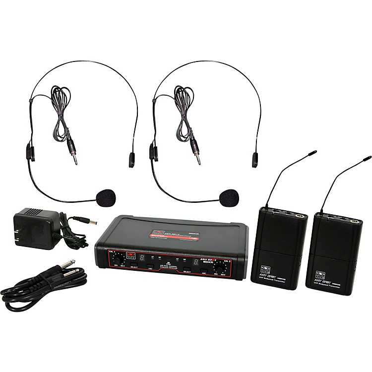 Galaxy AudioEDXR/38SS EDX Dual-Channel Wireless System with Two Headset MicrophonesBand DBlack