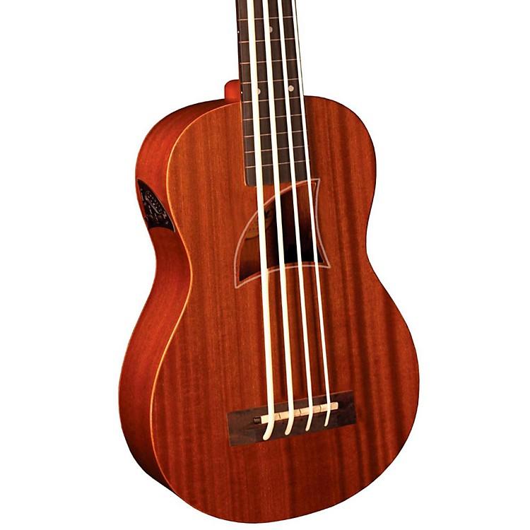 Eddy FinnEF-EBASS-FL Fretless Acoustic-Electric Bass UkuleleNatural