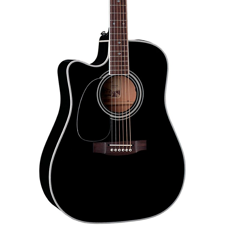 TakamineEF341SC-LH Legacy Series Dreadnought Left-Handed Acoustic-Electric Guitar