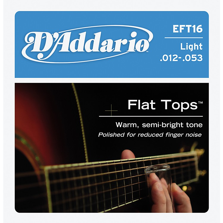 D'AddarioEFT16 Flat Top PB Light Acoustic Guitar Strings
