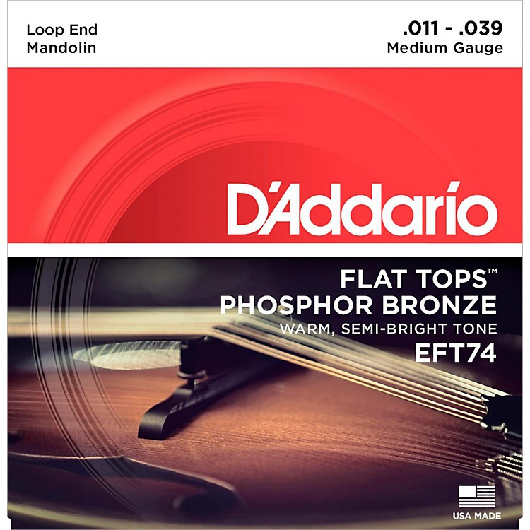 D'Addario EFT74 Flat Tops Medium Mandolin Strings (11-39)