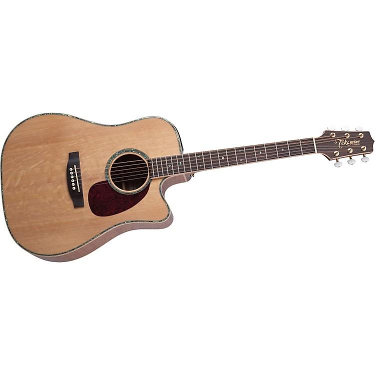 TakamineEG340DLX Dreadnought Cutaway Acoustic-Electric Guitar